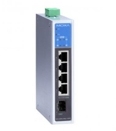 Коммутатор EDS-G205A-4PoE-T Unmanaged gigabit PoE switch with 4 PoE 10/100/1000BaseT(X) ports, 1 100 - Коммутаторы неуправляемые