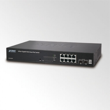 8-Port Web/Smart Gigabit PoE (802.3af) Switch with 2-Port SFP (110W) - Коммутаторы настраиваемые