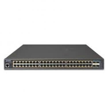 L2+/L4 48-Port 10/100/1000T 802.3at PoE + 4-Port 10G SFP+ Managed Switch, with Hardware Layer3 IPv4/ - Коммутаторы управляемые