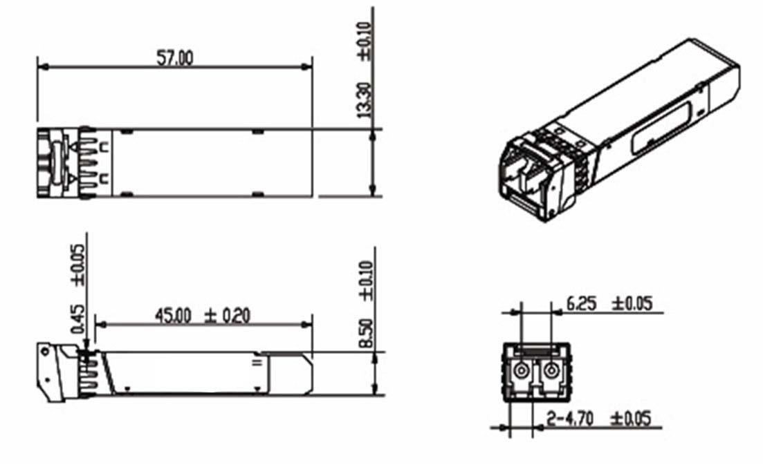 Схема SFP модуля: